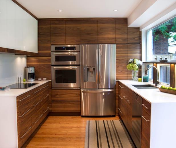 Different Designs Wood Veneer Kitchen Cabinet