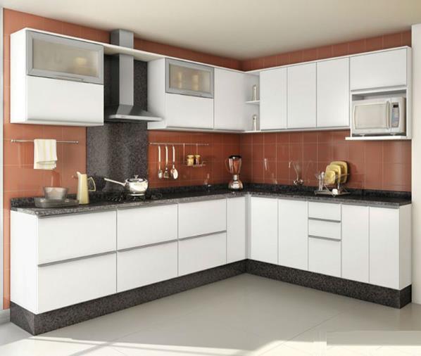 Factory Seconds Kitchen Cabinets: L Shaped Matt Finish Lacquer Kitchen Cabinet