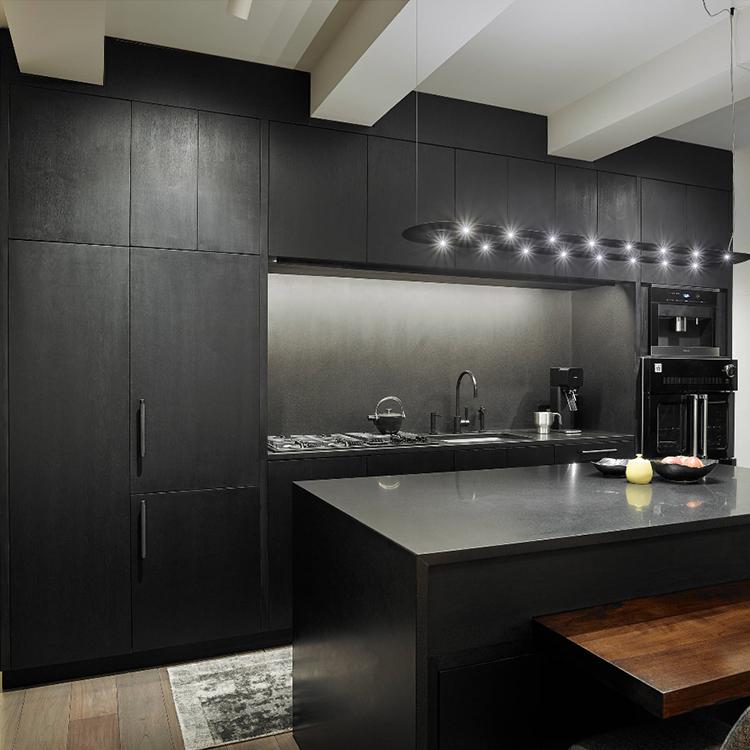 Black Melamine Kitchen Cabinet