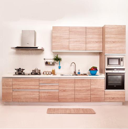 Wood Grain Melamine Kitchen Cabinet Vc Cucine China Kitchen