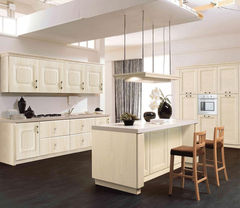 Matt Pvc Finish Kitchen Cabinet Vc Cucine China